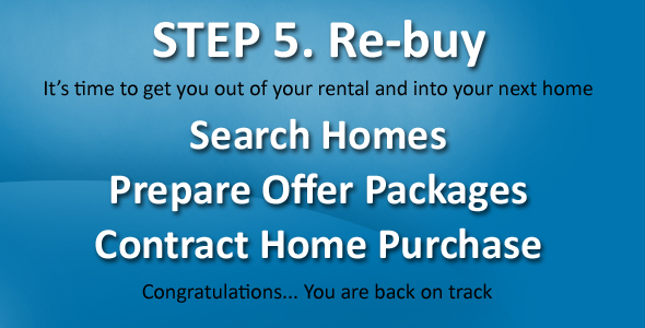 You are no longer a distressed homeowner so now it is time for you to buy a home.