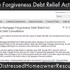 The Mortgage Forgiveness Debt Relief Act and Debt Cancellation Extended to End of 2013